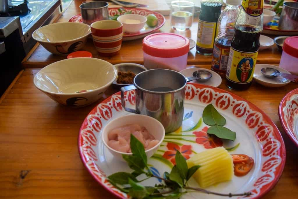3 Day Chiang Mai Itinerary Cooking Class Ingredients
