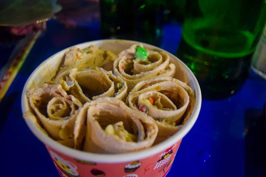 Day Chiang Mai Itinerary Ice Cream Roll Street Food