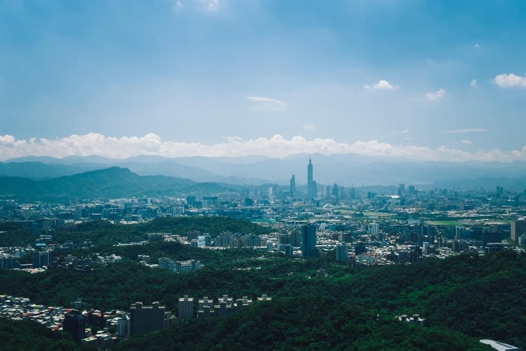 view of Taipei from Maokong - 2 days in Taipei