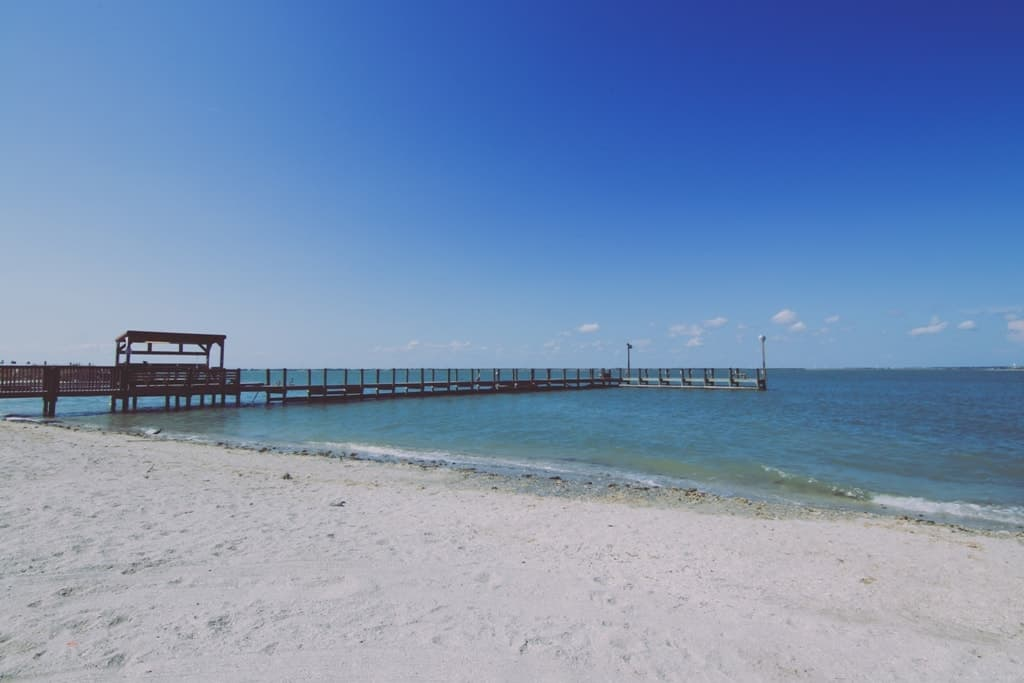 Horace Caldwell Pier on Mustang Island in Corpus Christi, Texas