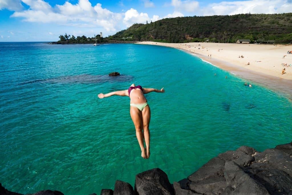 Waimea Bay Beach on Oahu, Hawaii