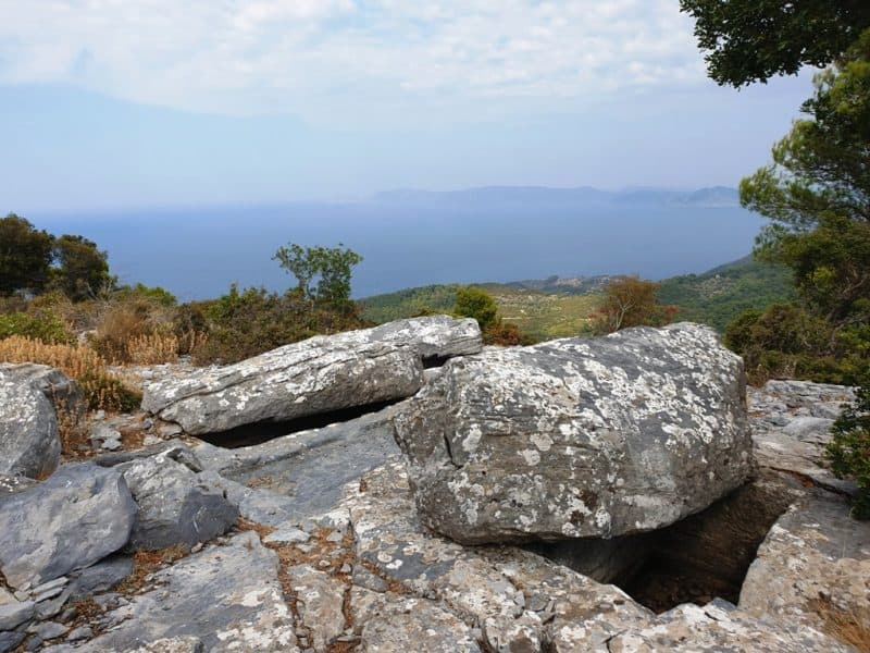 Sendoukia Carved Graves = Things to do in Skopelos