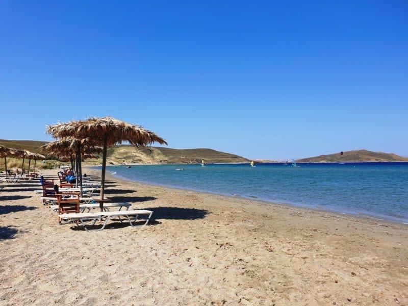 saravari beach in Lemnos island