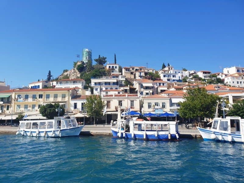 Poros island sailing in Greece