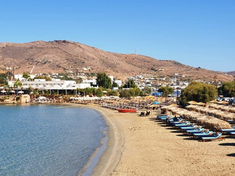 Agathopes Beach in Syros