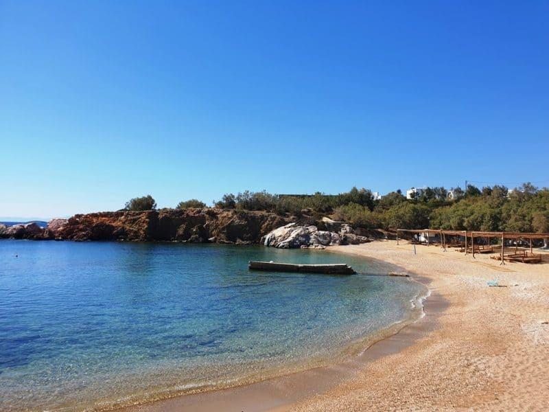 Apantima Beach in Antiparos