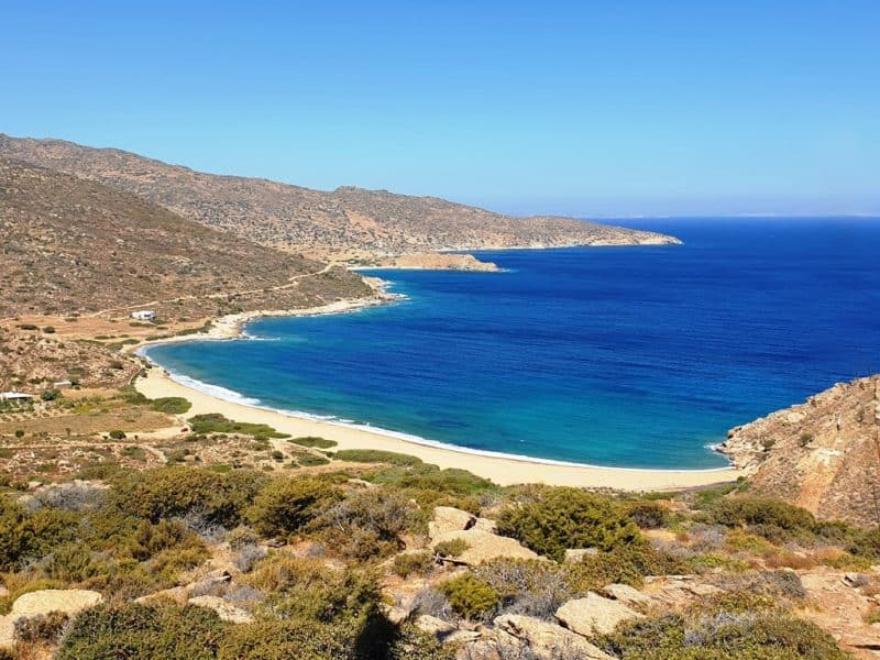Kalamos Beach in Ios