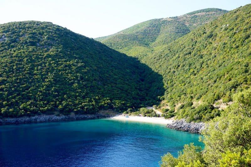Kaminia Beach in Ithaca Greece best beaches