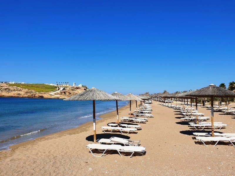 Koumpara Beach in Ios island Greece