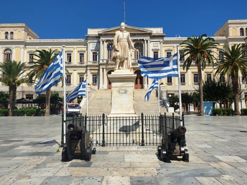 Miaouli Square in Syros