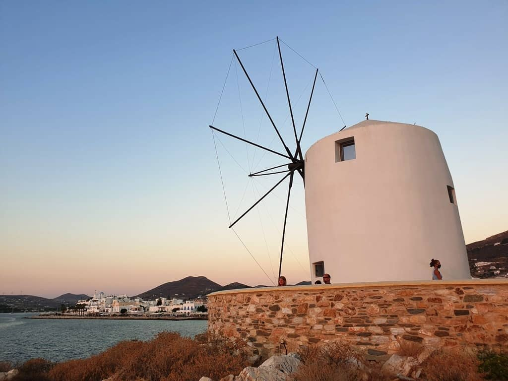 windmill in Parikia Paros