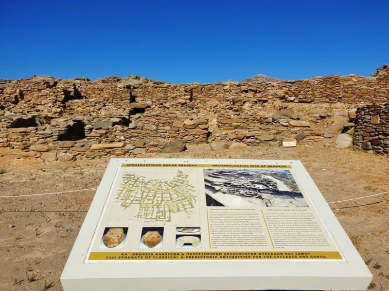 archaeological site of Skarkos in Ios island