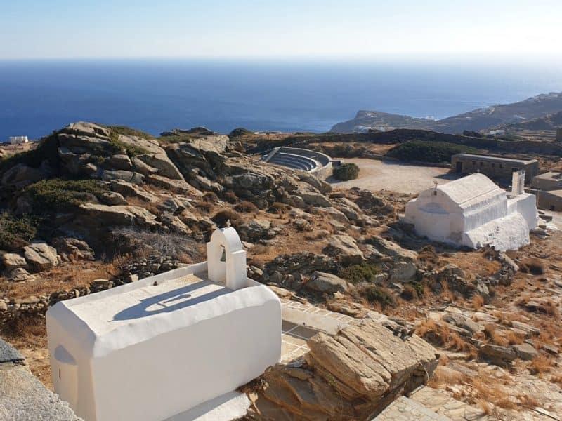 Amazing views over Odysseas Elytis Theatre in Ios