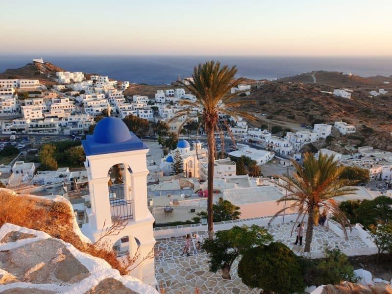 Chora in Ios Island Greece