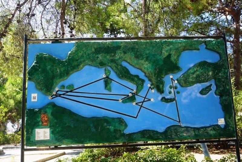 map of Odysseus journey