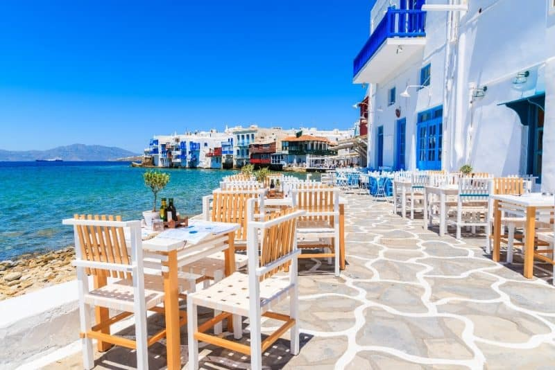 Mykonos is a great day trip from Paros