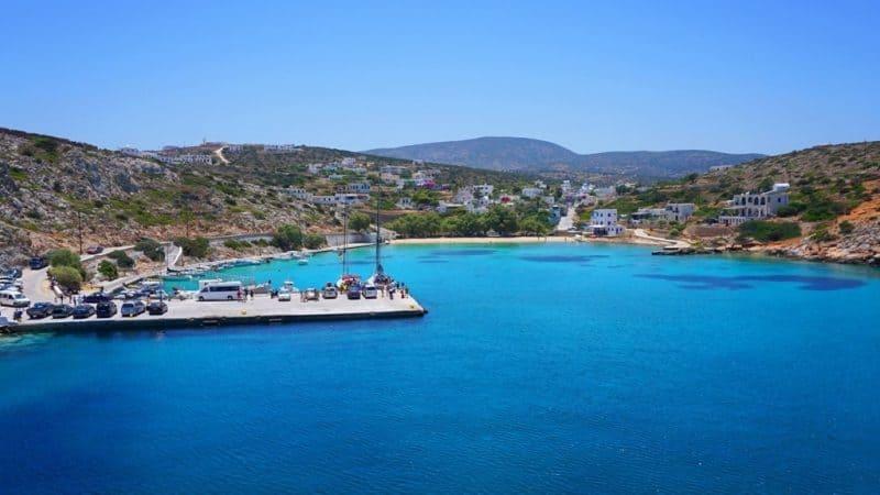 small port of Iraklia Cyclades