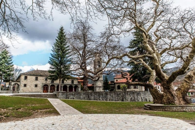 Agia Paraskevi Cathedral in Metsovo Greece