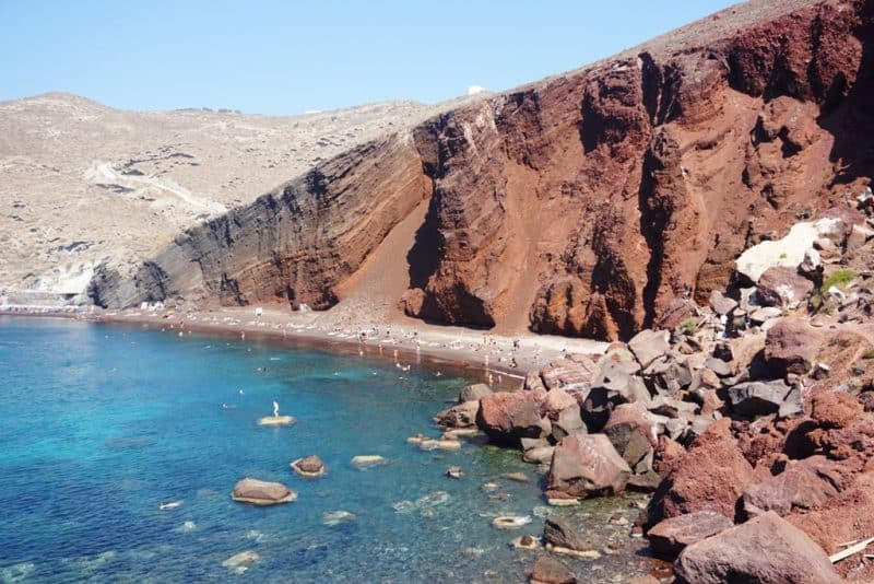 Red Beach in Santorini - things to do in Santorini