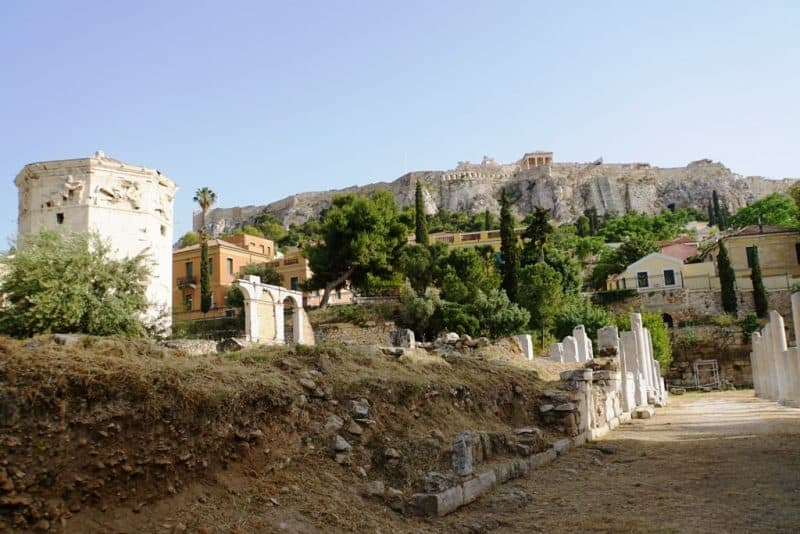 Roman Agora - what to see in Athens Greece