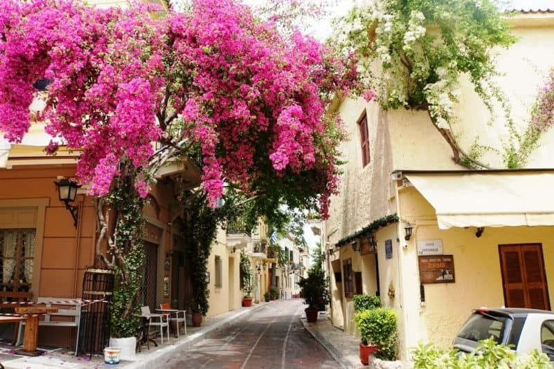 Plaka in Athens - 10 days in Greece