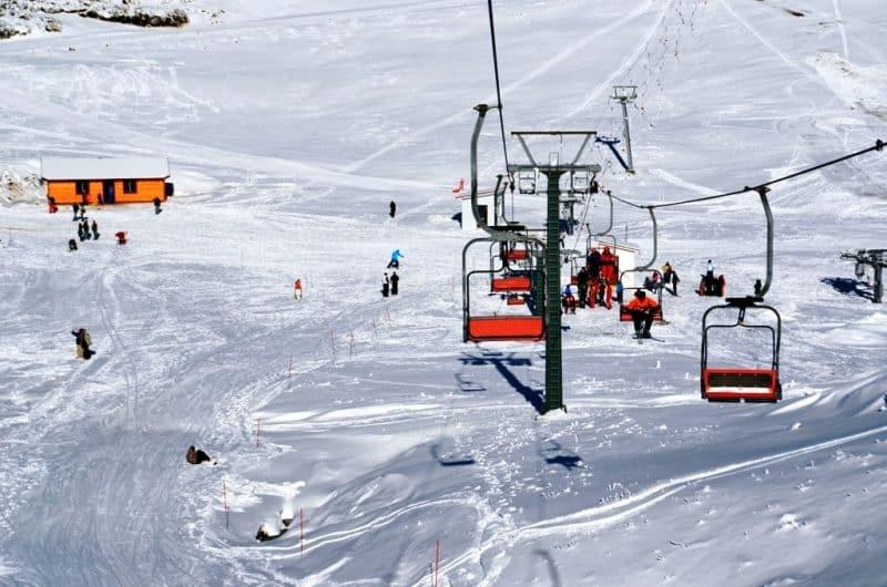 Anilio Ski Resort near Metsovo Greece