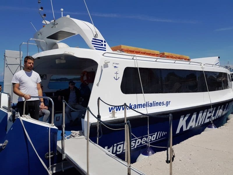 Fast ferry gioing from Corfu to Paxos Island