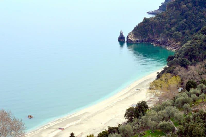 Agia Saranta Beach in Pelion
