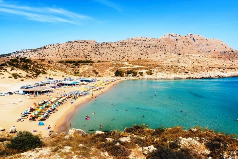 Agathi beach - best rhodes beaches
