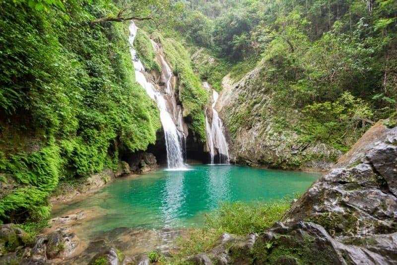 waterfall of El Salto de Caburni in the Topas de Collantes