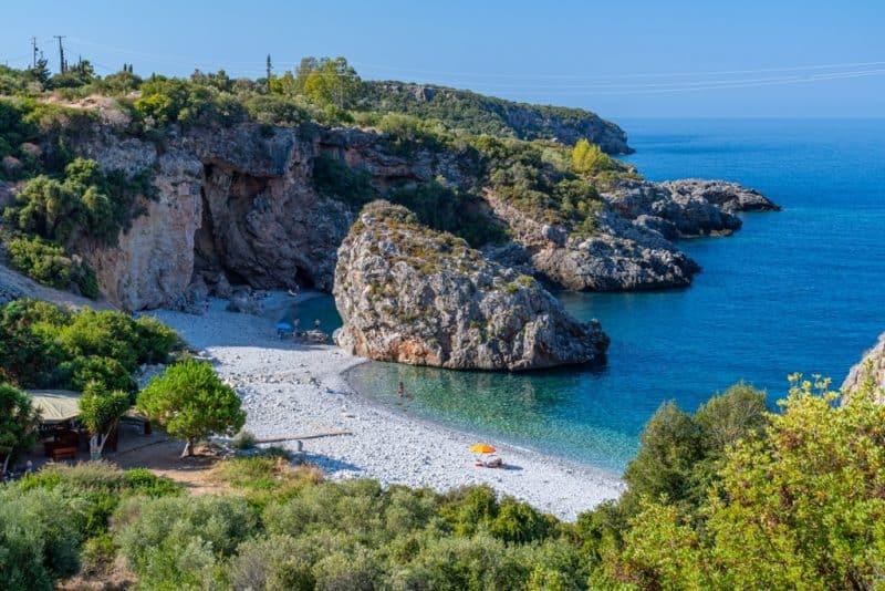 Foneas beach near Kardamyli at summer