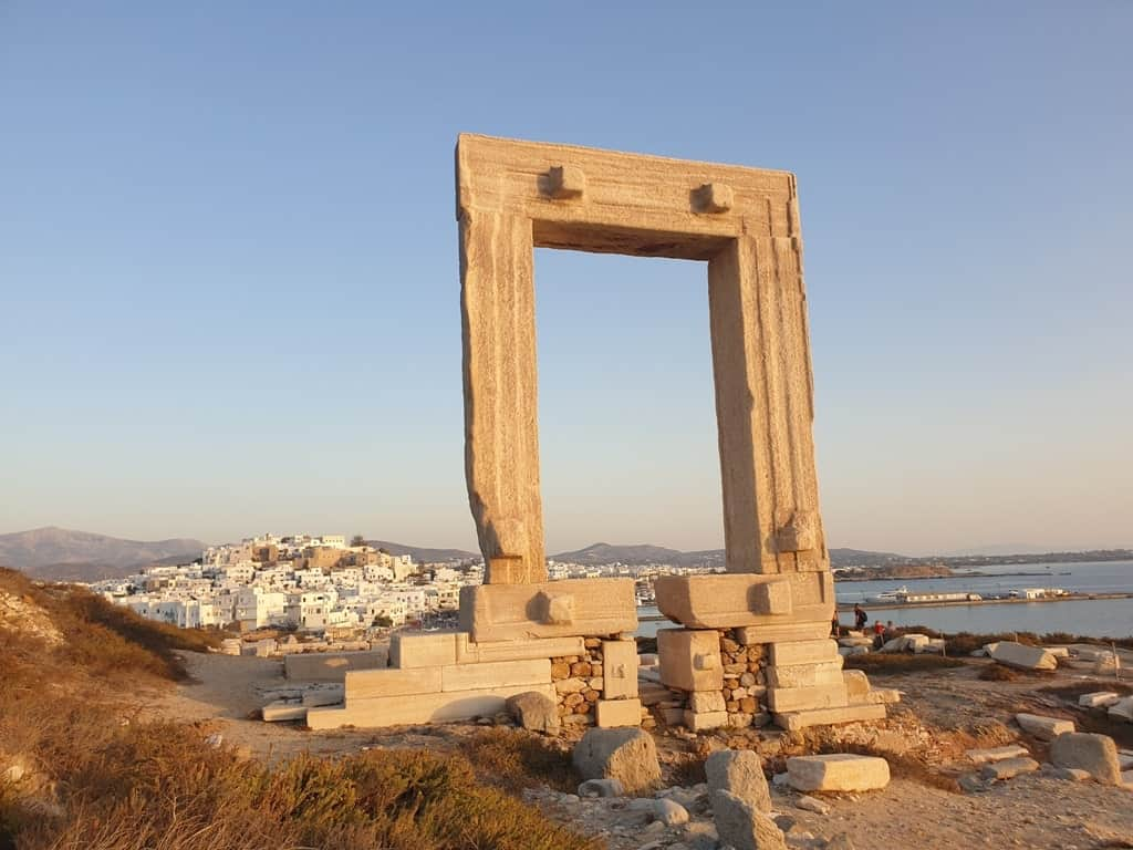 Portara in Naxos Island