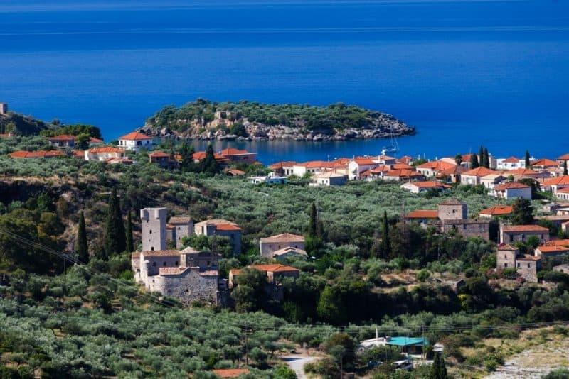 Panoramic view of Kardamyli town