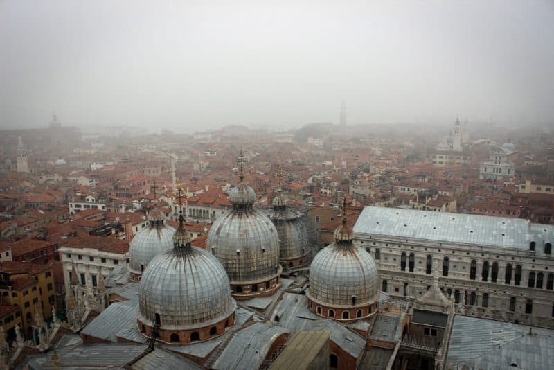 foggy Venice from the Campanile of San Marco