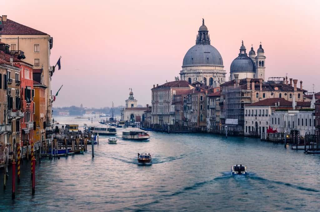 Grand Canal Venice in winter