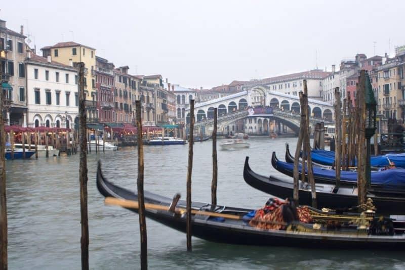 Rialto Bridge Venice - Venice in winter