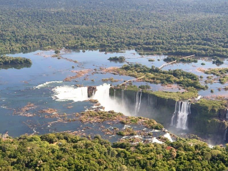 Helicopter ride Iguazu Falls
